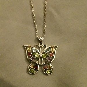 Butterfly 925 Silver necklace
